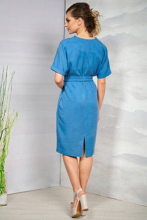 Фото 2 - Платье Olegran д-578 синий синего цвета