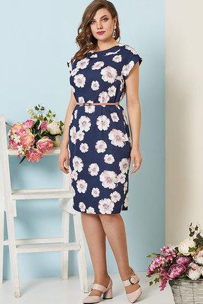 Фото - Платье Olga Style с272 синий с белым цвет синий с белым