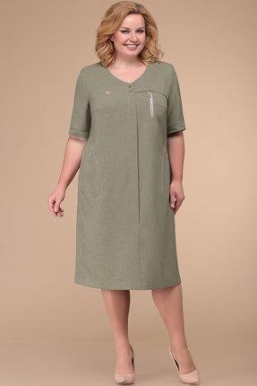 Фото - Платье Линия-Л Б-1719 хаки цвета хаки