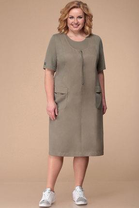 Фото - Платье Линия-Л Б-1713 хаки цвета хаки