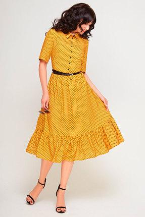 Фото - Платье SWALLOW 178 горчица цвет горчица