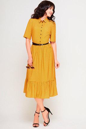Фото 2 - Платье SWALLOW 178 горчица цвет горчица