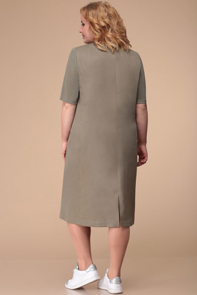 Фото 4 - Платье Линия-Л Б-1713 хаки цвета хаки