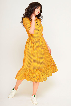 Фото 3 - Платье SWALLOW 178 горчица цвет горчица