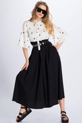 Фото - Платье Divina 1.990 черно-белый черно-белого цвета