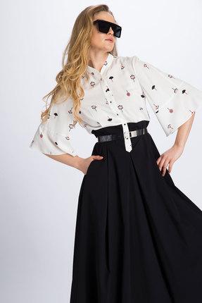 Фото 2 - Платье Divina 1.990 черно-белый черно-белого цвета