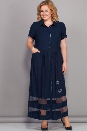 Фото - Платье Bonna Image 439 тёмно-синий тёмно-синего цвета