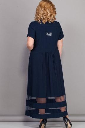 Фото 2 - Платье Bonna Image 439 тёмно-синий тёмно-синего цвета