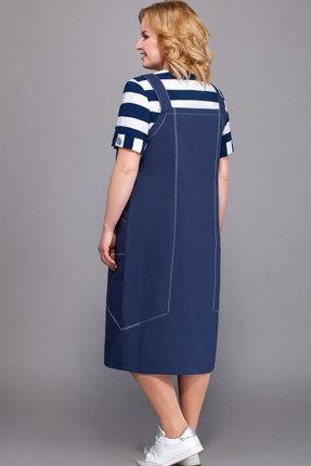 Фото 2 - Платье Теллура-Л 1440 тёмно-синий тёмно-синего цвета