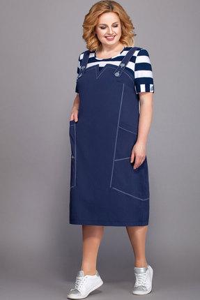 Фото - Платье Теллура-Л 1440 тёмно-синий тёмно-синего цвета