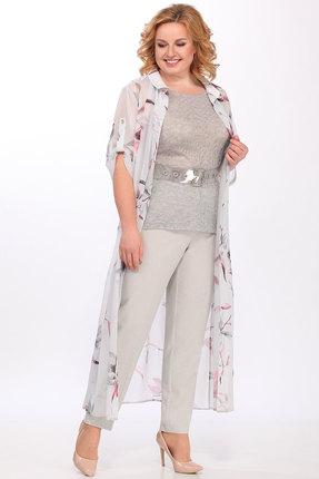 Комплект брючный Lady Secret 3587 светло-серый с бежевым