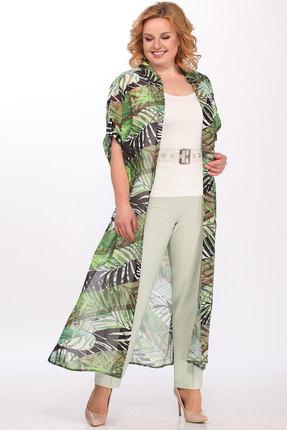Комплект брючный Lady Secret 3587 зеленый с бежевым