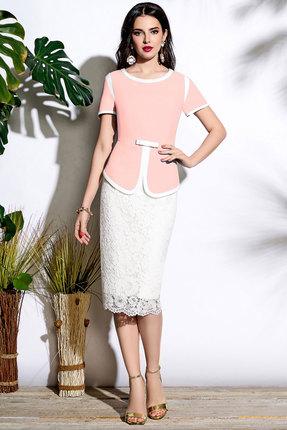 Комплект юбочный Lissana 3639 розовый с белым