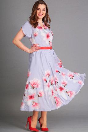женское повседневные платье асолия, голубое