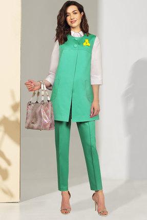 Комплект брючный Миа Мода 1035-2 зеленый