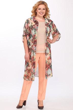 Комплект брючный Lady Secret 2632 персик с цветами