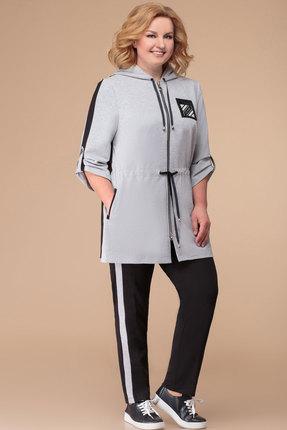 Спортивный костюм Svetlana Style 1237 серый с черным