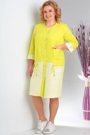 Пальто Milana 132 желтый