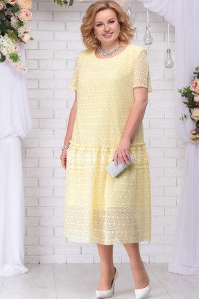 Купить Платье Ninele 7241 жёлтый, Вечерние платья, 7241, жёлтый, ПЭ 80% Вискоза 20%, Подкладка – Хлопок 100%, Мультисезон