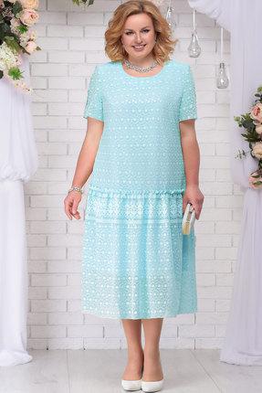 Купить Платье Ninele 7241 мята, Вечерние платья, 7241, мята, ПЭ 80% Вискоза 20%, Подкладка – Хлопок 100%, Мультисезон