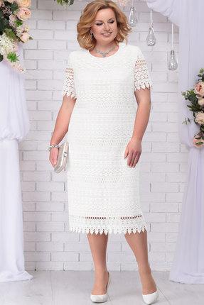 Купить Платье Ninele 7243 белый, Вечерние платья, 7243, белый, Кружево – Вискоза 63%, ПЭ 37%, Подкладка – Хлопок 100%, Мультисезон