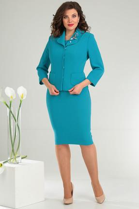 Комплект плательный Мода-Юрс 2370 ярко-голубой