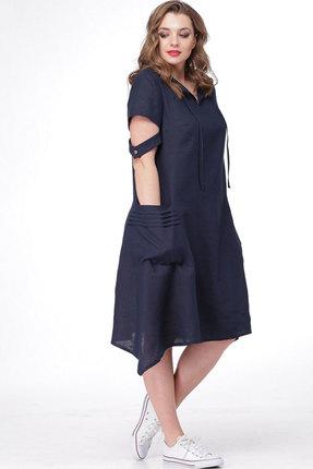 Платье MALI 470 тёмно-синий