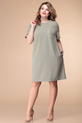 Купить Платье Romanovich style 1-1810 олива, Вечерние платья, 1-1810, олива, 100% пэ, Лето