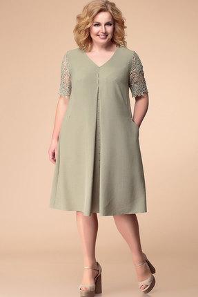 Купить Платье Romanovich style 1-1811 олива, Вечерние платья, 1-1811, олива, 100% пэ, Лето