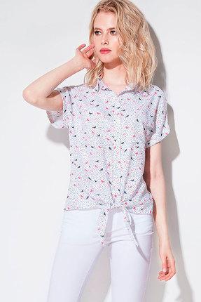 Купить со скидкой Блузка Prio 700140 белый с цветным