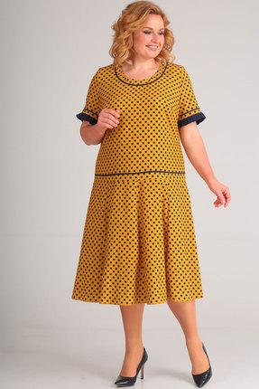 Платье Асолия 2424 горчичный