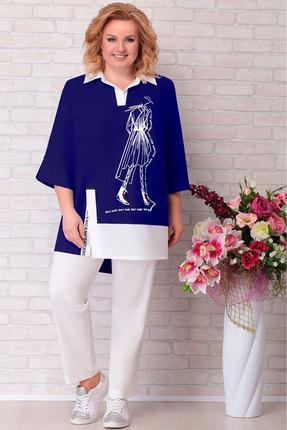 Комплект брючный Aira Style 671 синий