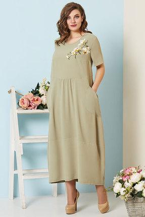 Купить Платье Olga Style с530 олива, Повседневные платья, с530, олива, пэ 64%, вискоза 34%, спандекс 2%, Лето