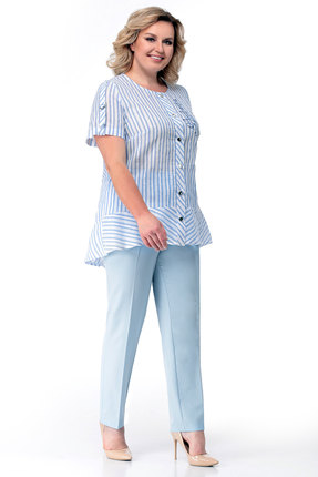 Комплект брючный Мишель стиль 779 голубой