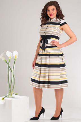 Комплект юбочный Мода-Юрс 2352 бежевые тона