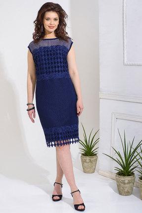 Купить Платье Anna Majewska 238 темно-синий, Повседневные платья, 238, темно-синий, Вискоза-50%, ПЭ-50%, Лето