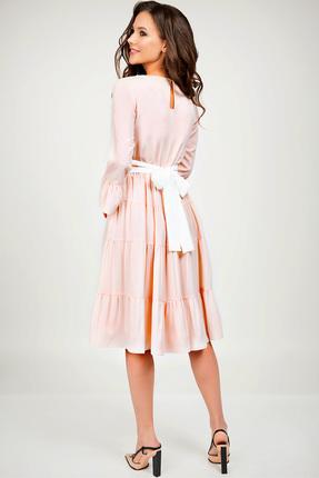Купить Платье Teffi style 1393 розовый, Повседневные платья, 1393, розовый, Ткань – креп-шифон. 100% ПЭ, Мультисезон
