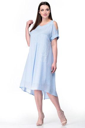 Платье Мишель стиль 777 голубой