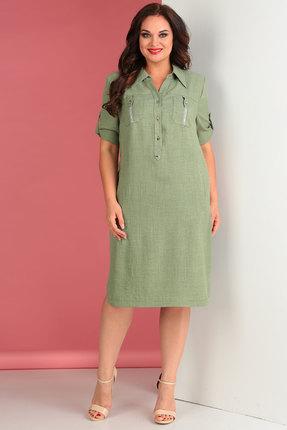 Платье Тэнси 258л хаки