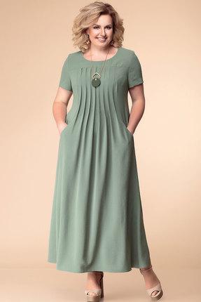 Купить Платье Romanovich style 1-1826 олива, Повседневные платья, 1-1826, олива, 100% ПЭ, Лето