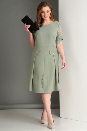 Купить Платье Viola Style 0861 олива, Повседневные платья, 0861, олива, Хлопок 45%, ПЭ 50%, спандекс 5%, Лето