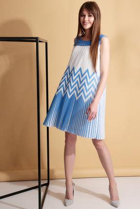 Платье Axxa 55069 голубой с белым, Вечерние платья, 55069, голубой с белым