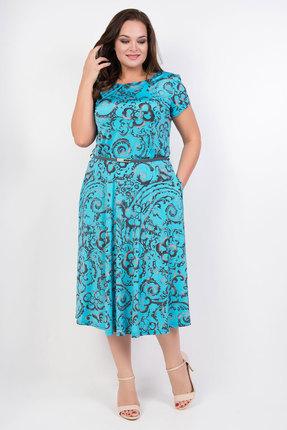 Платье TricoTex Style 1419 бирюза, Повседневные платья, 1419, бирюза