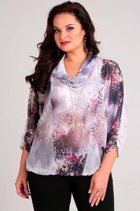 Блузка Таир-Гранд 62141 серо-розовый, Блузки, 62141, серо-розовый