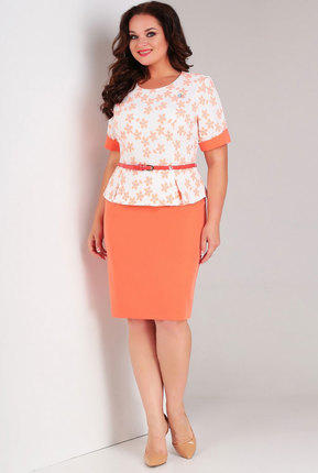 Комплект юбочный Милора-Стиль 446 персиковый, Юбочные, 446, персиковый