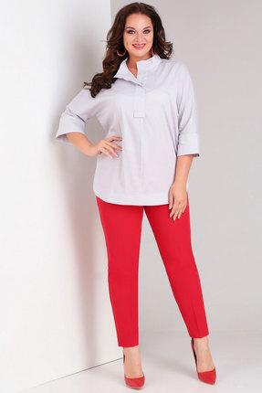 Комплект брючный Милора-Стиль 724 красный с серым светлым