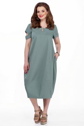 Платье TEZA 175 бирюзовые тона, Повседневные платья, 175, бирюзовые тона