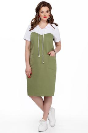 Платье TEZA 193 зеленые тона, Повседневные платья, 193, зеленые тона