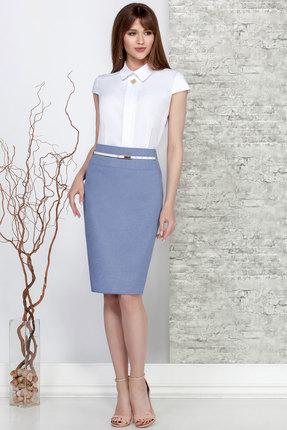 Комплект юбочный Ivelta plus 2476 белый с синий