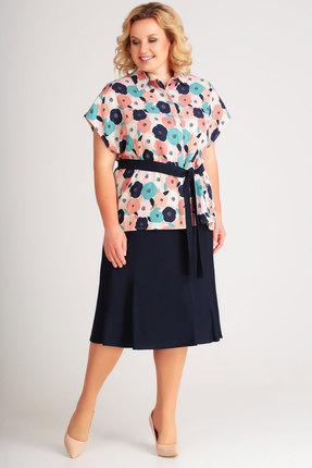Комплект юбочный SWALLOW 183 синий с цветным